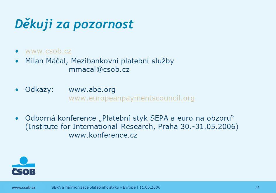 Děkuji za pozornost www.csob.cz