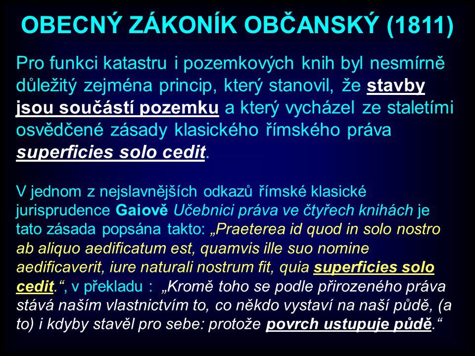 OBECNÝ ZÁKONÍK OBČANSKÝ (1811)