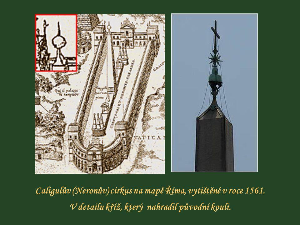 Caligulův (Neronův) cirkus na mapě Říma, vytištěné v roce 1561.