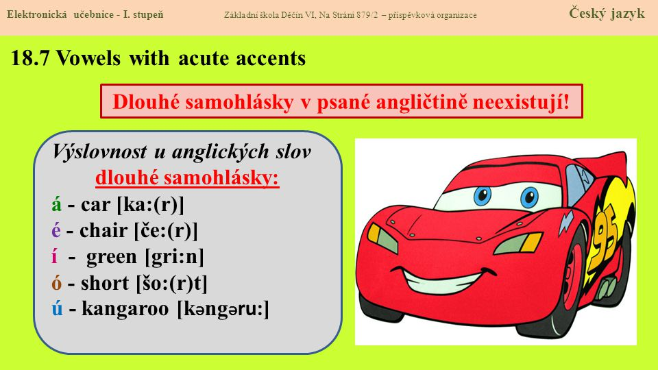 18.7 Vowels with acute accents