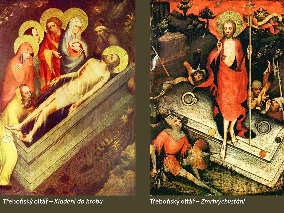 Třeboňský oltář – Kladení do hrobu Třeboňský oltář – Zmrtvýchvstání