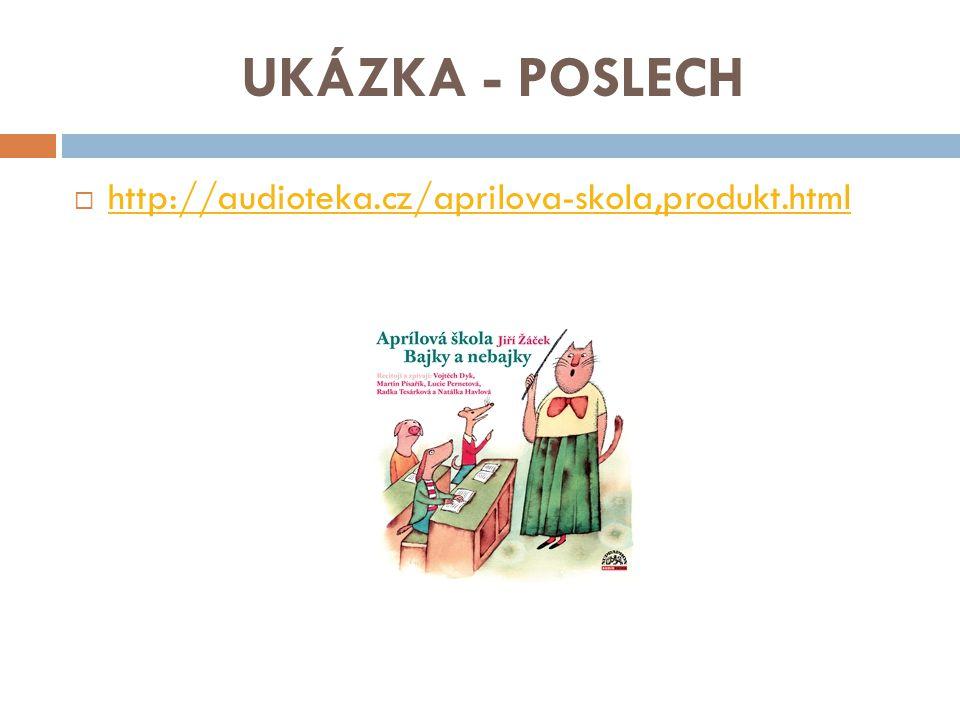 UKÁZKA - POSLECH http://audioteka.cz/aprilova-skola,produkt.html