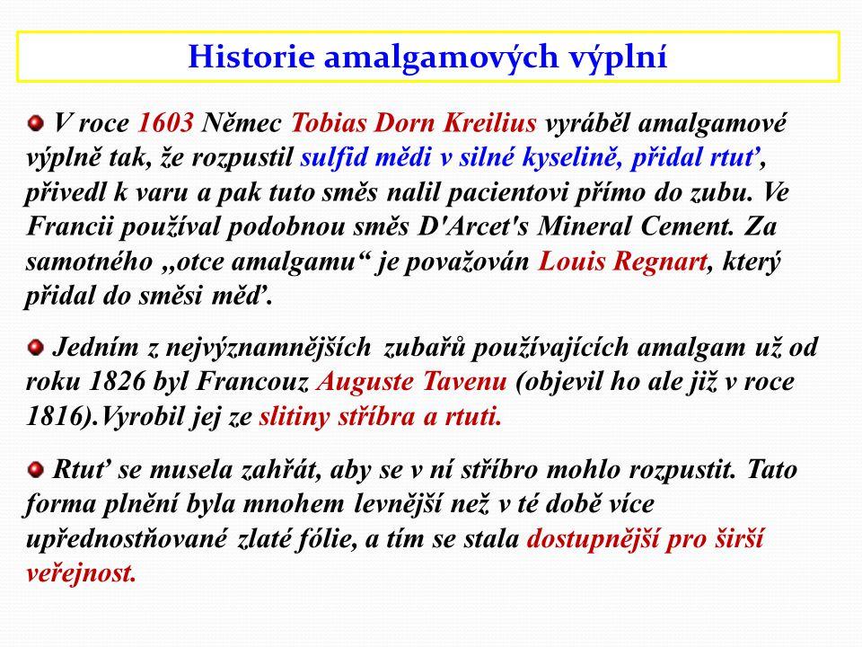 Historie amalgamových výplní