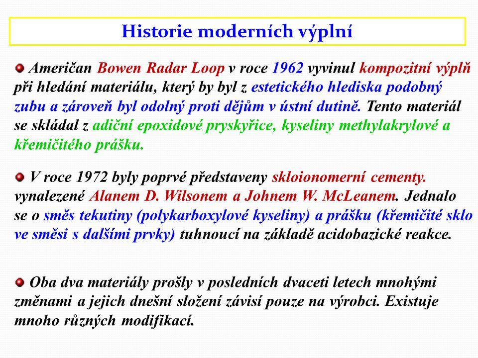 Historie moderních výplní