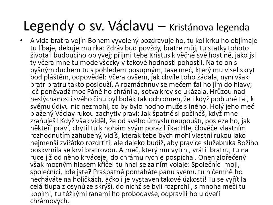 Legendy o sv. Václavu – Kristánova legenda