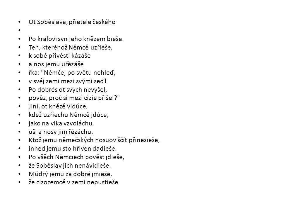 Ot Soběslava, přietele českého
