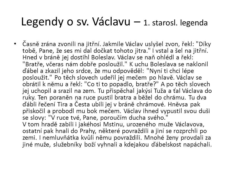 Legendy o sv. Václavu – 1. starosl. legenda