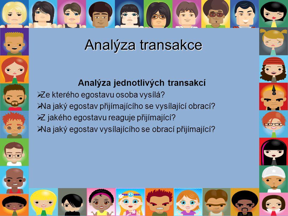 Analýza jednotlivých transakcí