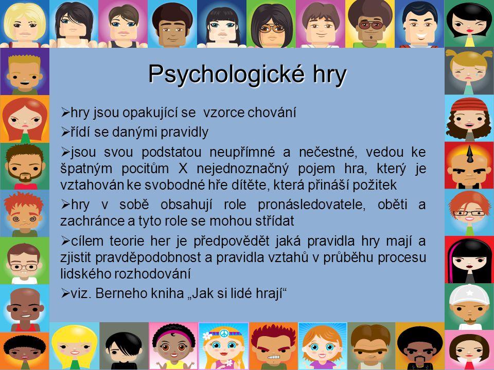 Psychologické hry hry jsou opakující se vzorce chování