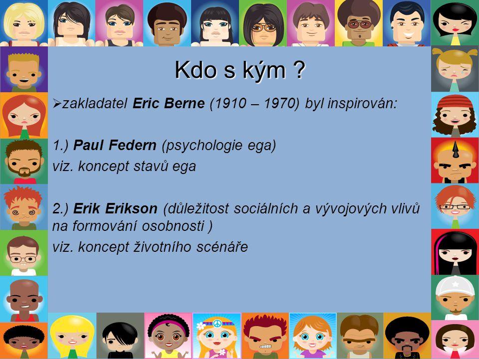 Kdo s kým 1.) Paul Federn (psychologie ega) viz. koncept stavů ega