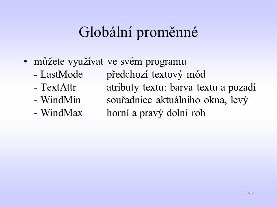 Globální proměnné