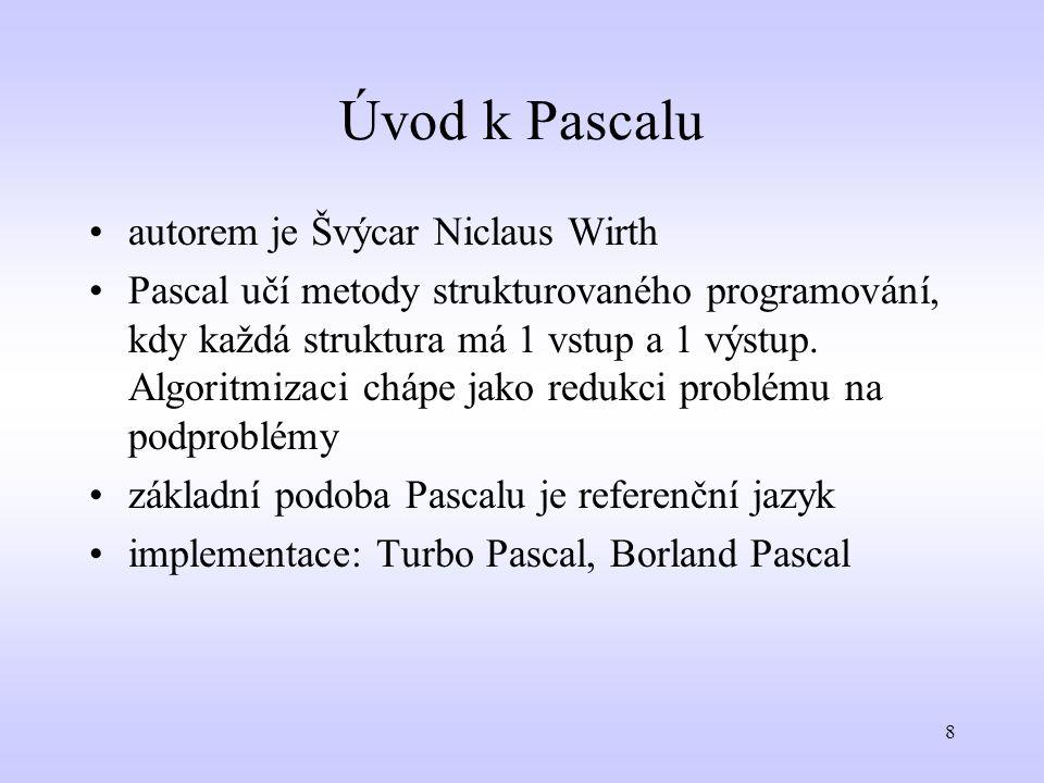 Úvod k Pascalu autorem je Švýcar Niclaus Wirth