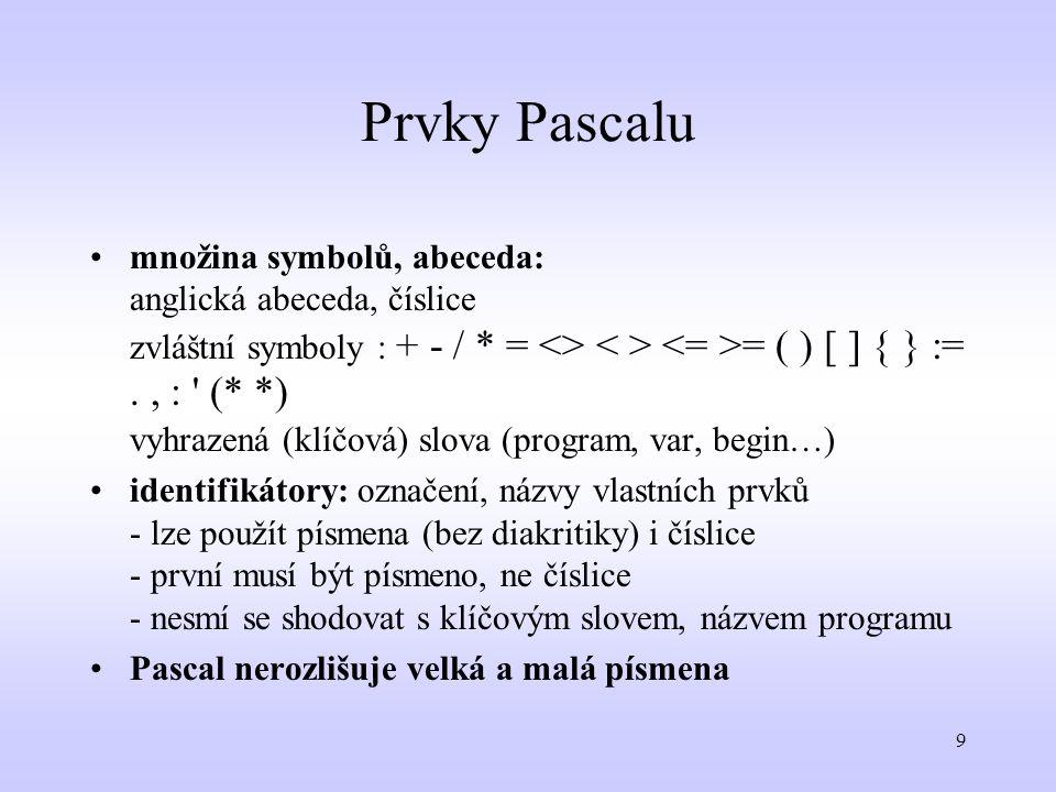 Prvky Pascalu