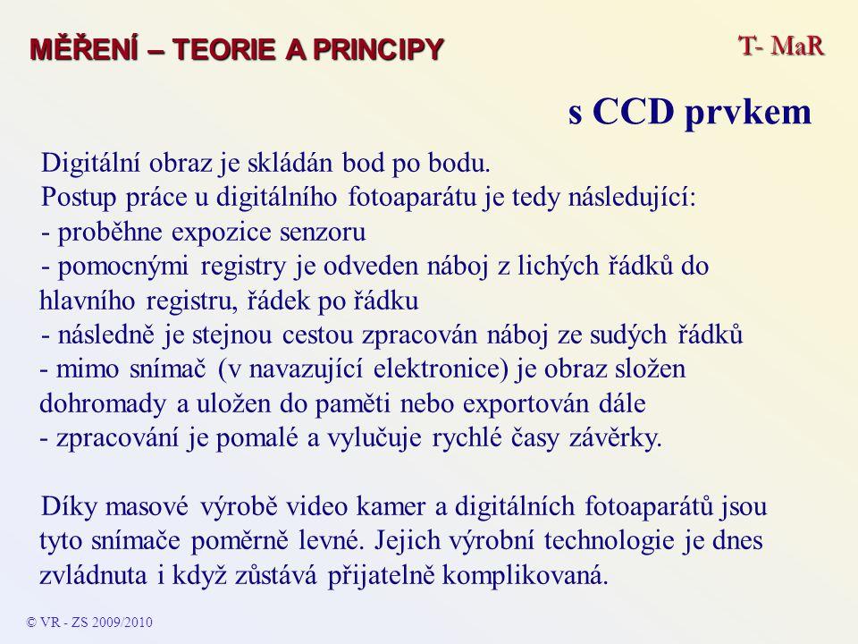 s CCD prvkem T- MaR MĚŘENÍ – TEORIE A PRINCIPY