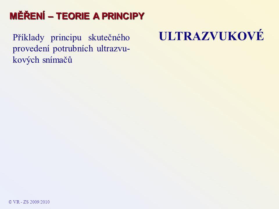 ULTRAZVUKOVÉ MĚŘENÍ – TEORIE A PRINCIPY