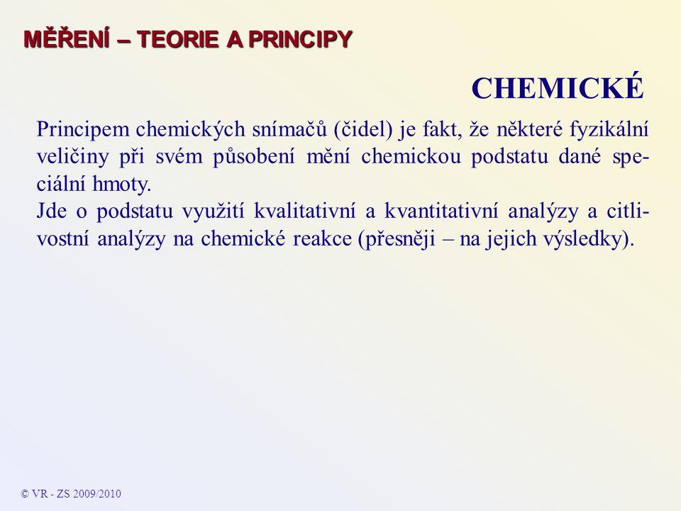 CHEMICKÉ MĚŘENÍ – TEORIE A PRINCIPY