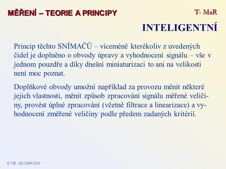 INTELIGENTNÍ T- MaR MĚŘENÍ – TEORIE A PRINCIPY