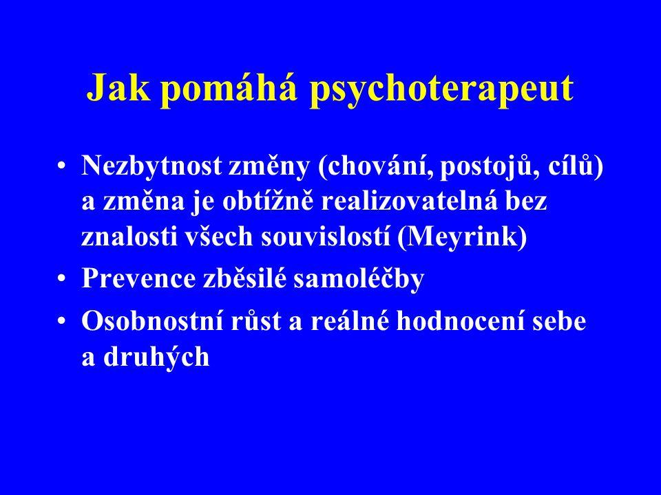 Jak pomáhá psychoterapeut