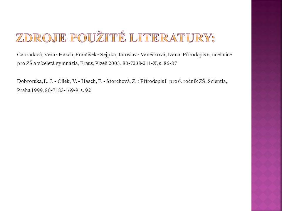 Zdroje použité literatury: