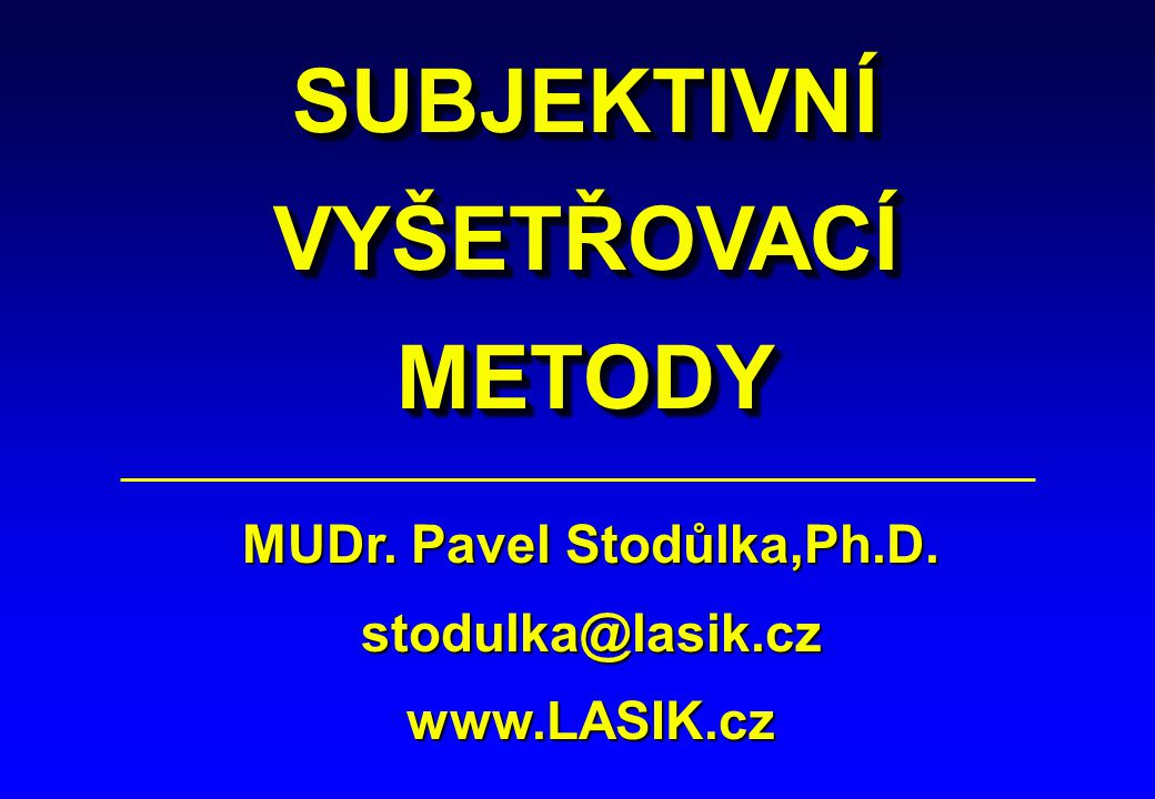 MUDr. Pavel Stodůlka,Ph.D.