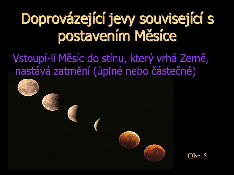 Doprovázející jevy související s postavením Měsíce