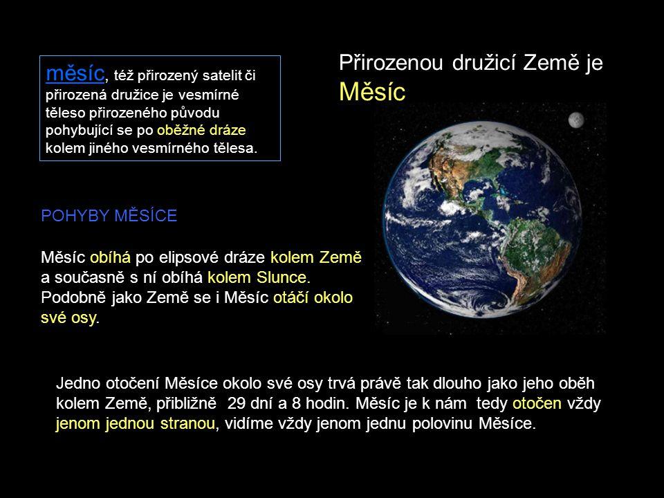 Přirozenou družicí Země je Měsíc