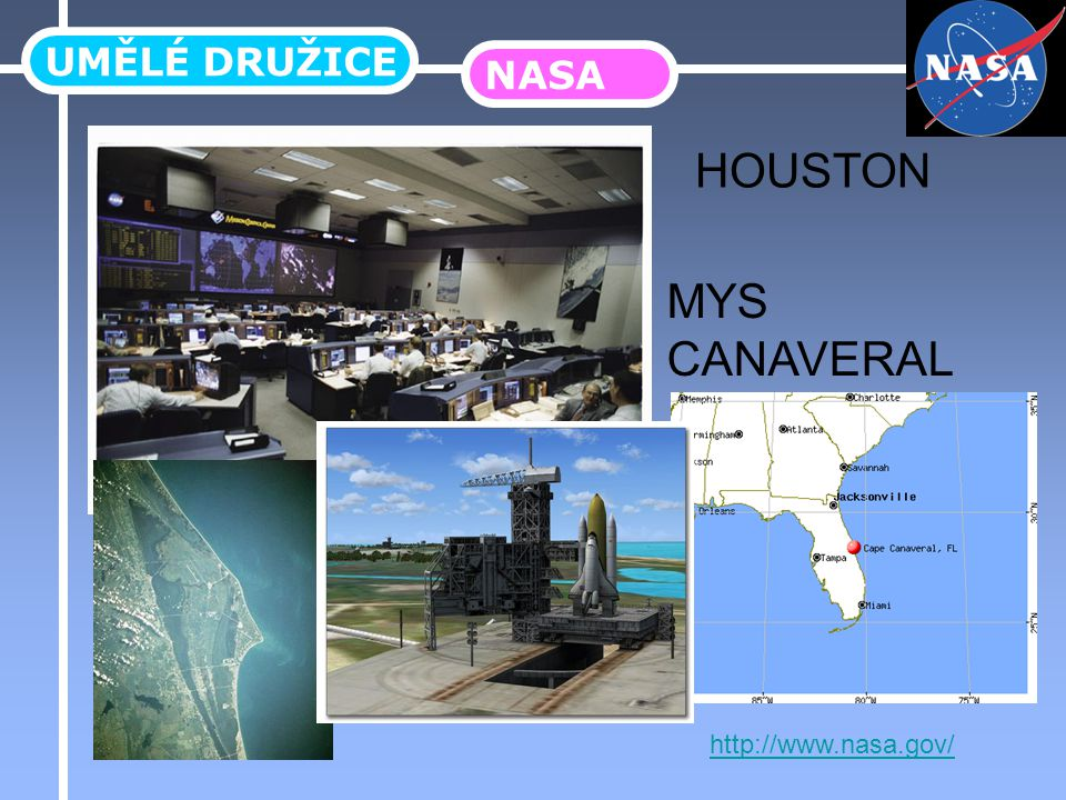 UMĚLÉ DRUŽICE NASA HOUSTON MYS CANAVERAL http://www.nasa.gov/