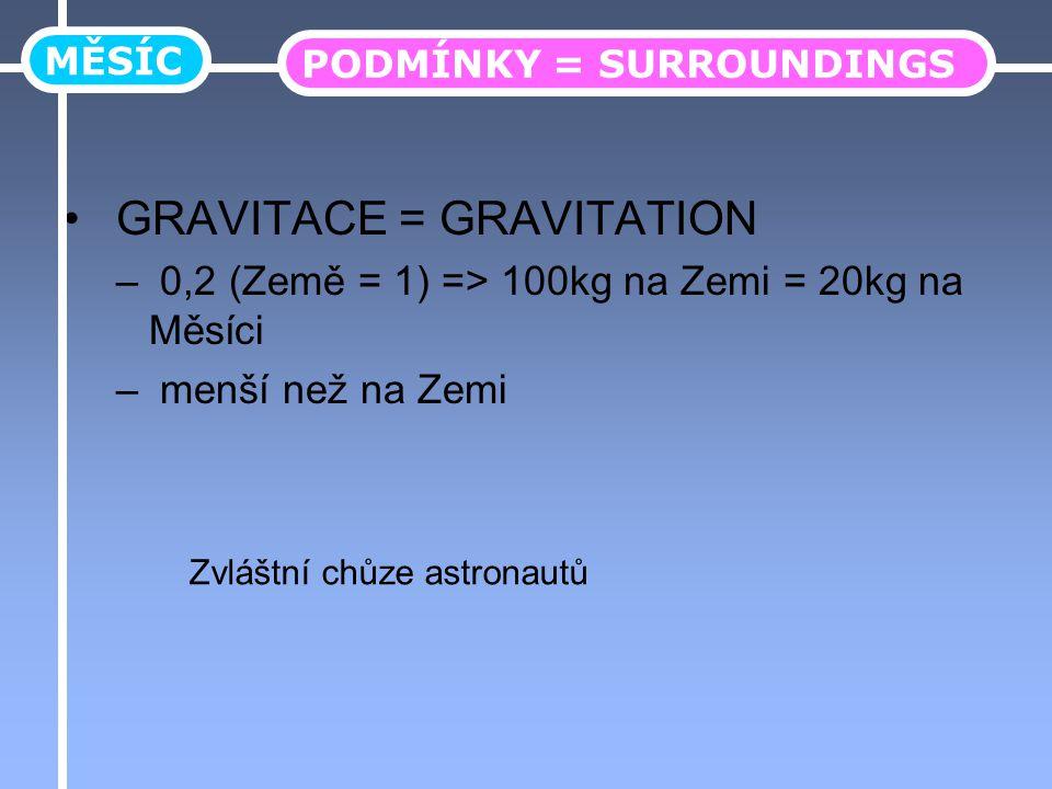 GRAVITACE = GRAVITATION
