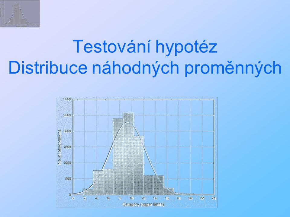 Testování hypotéz Distribuce náhodných proměnných