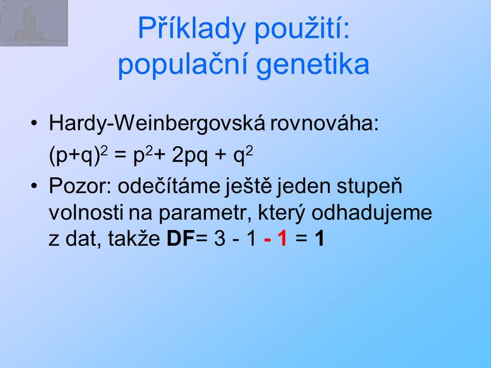 Příklady použití: populační genetika