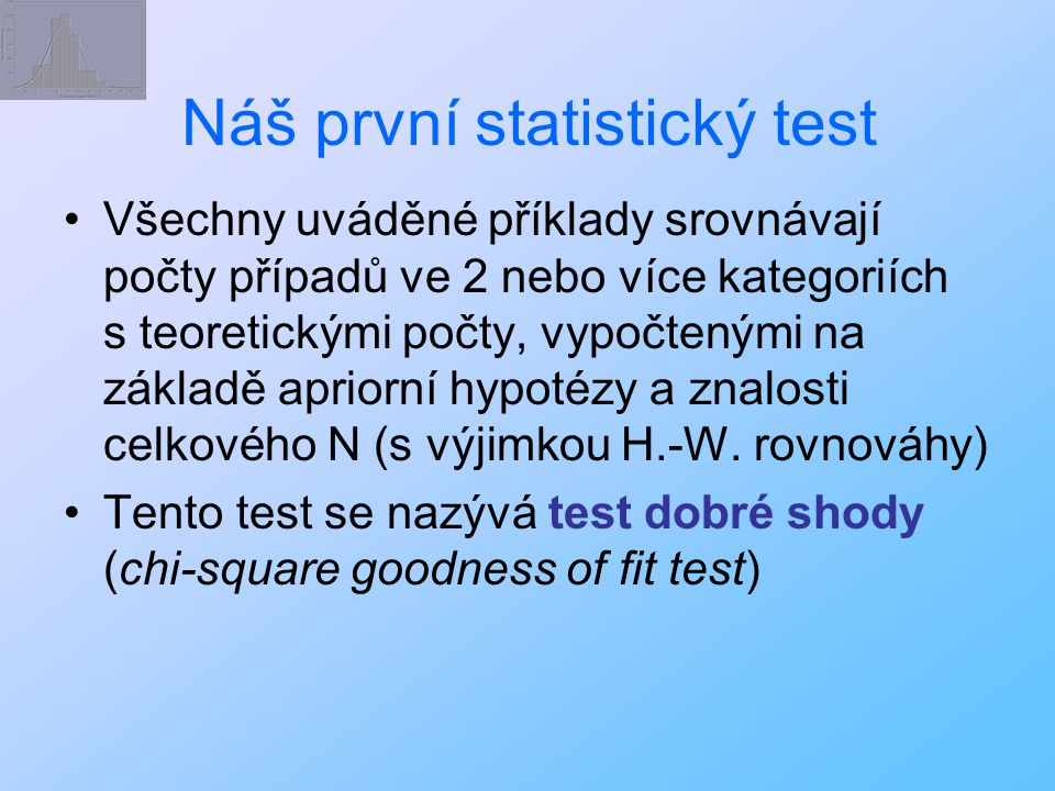 Náš první statistický test