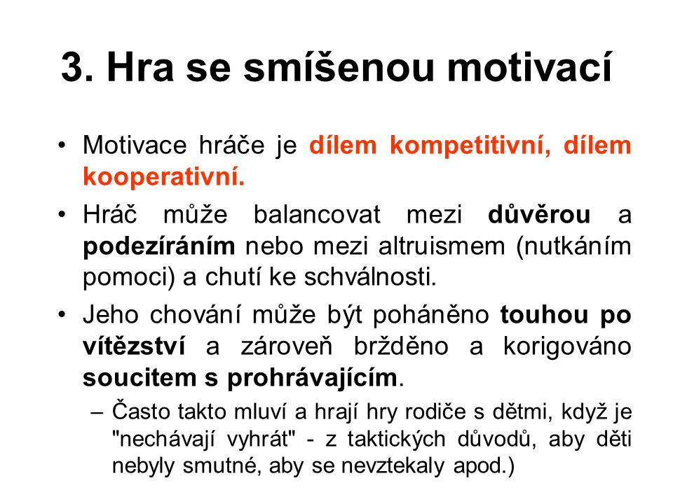 3. Hra se smíšenou motivací