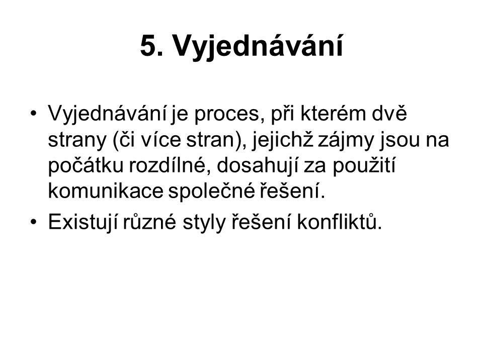 5. Vyjednávání
