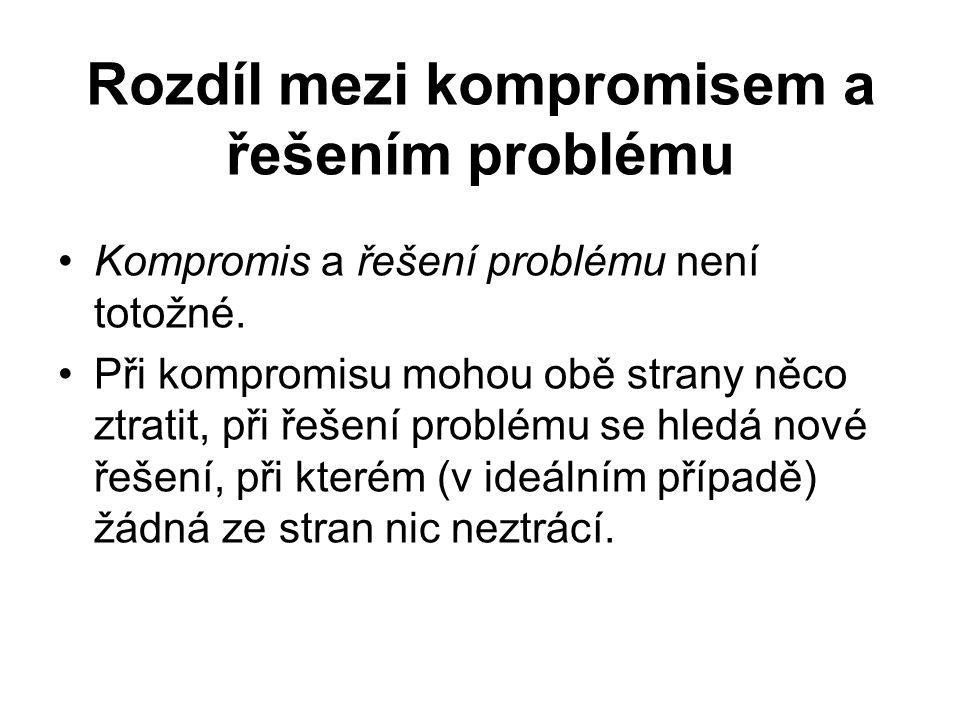 Rozdíl mezi kompromisem a řešením problému