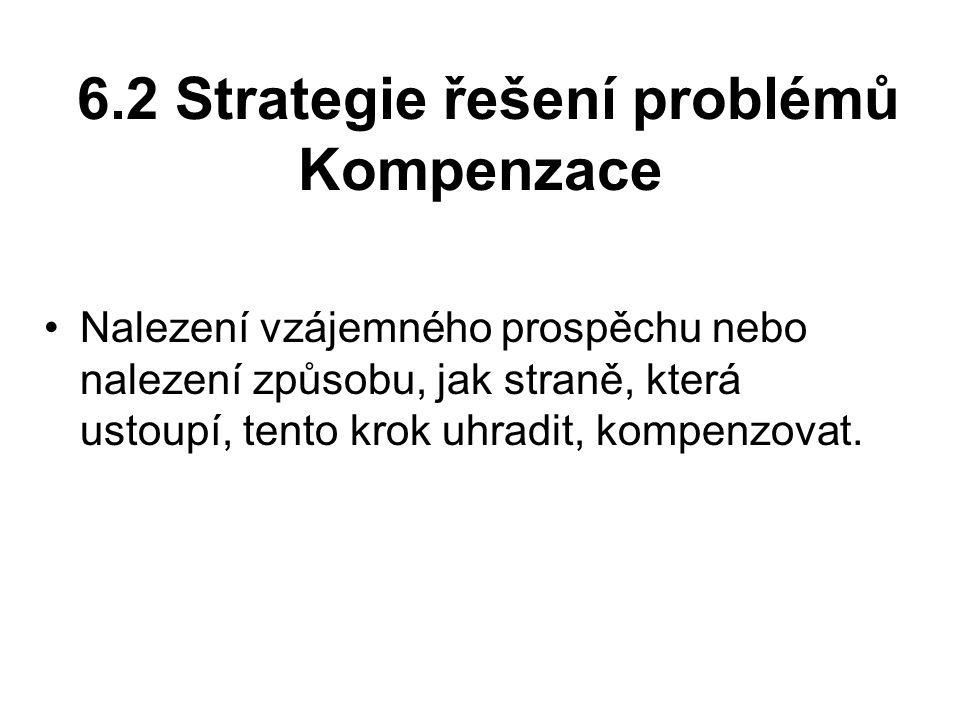 6.2 Strategie řešení problémů Kompenzace