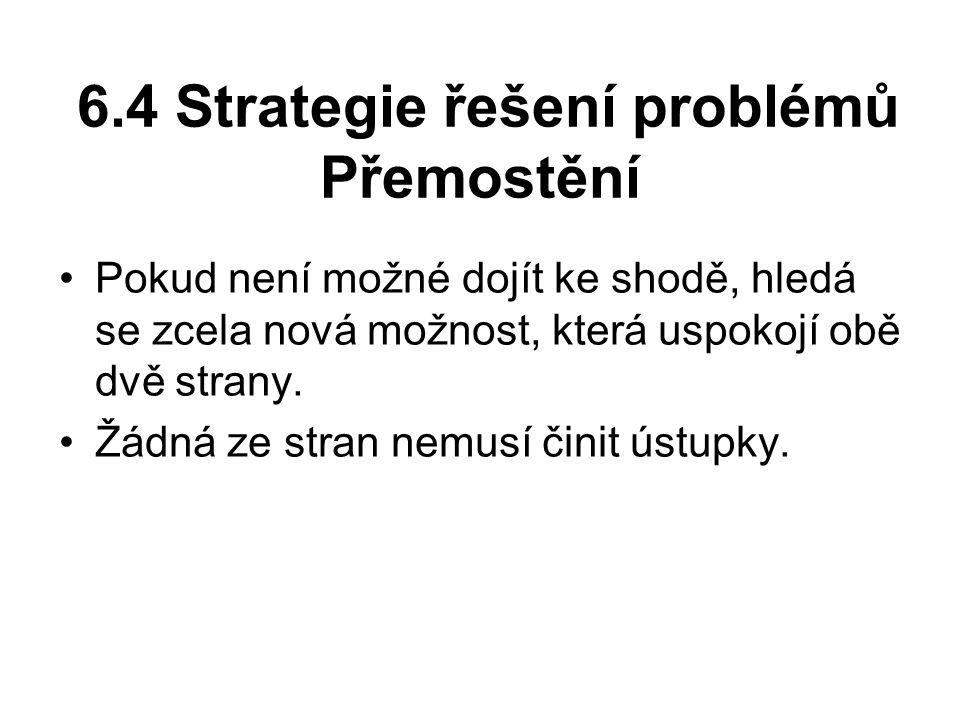 6.4 Strategie řešení problémů Přemostění