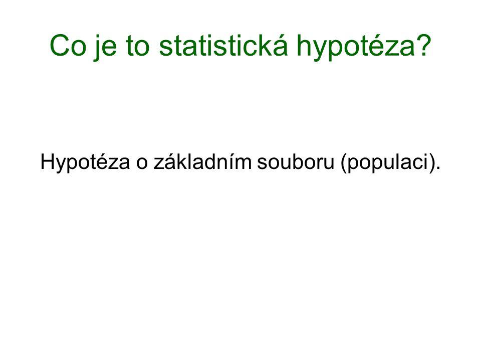 Co je to statistická hypotéza