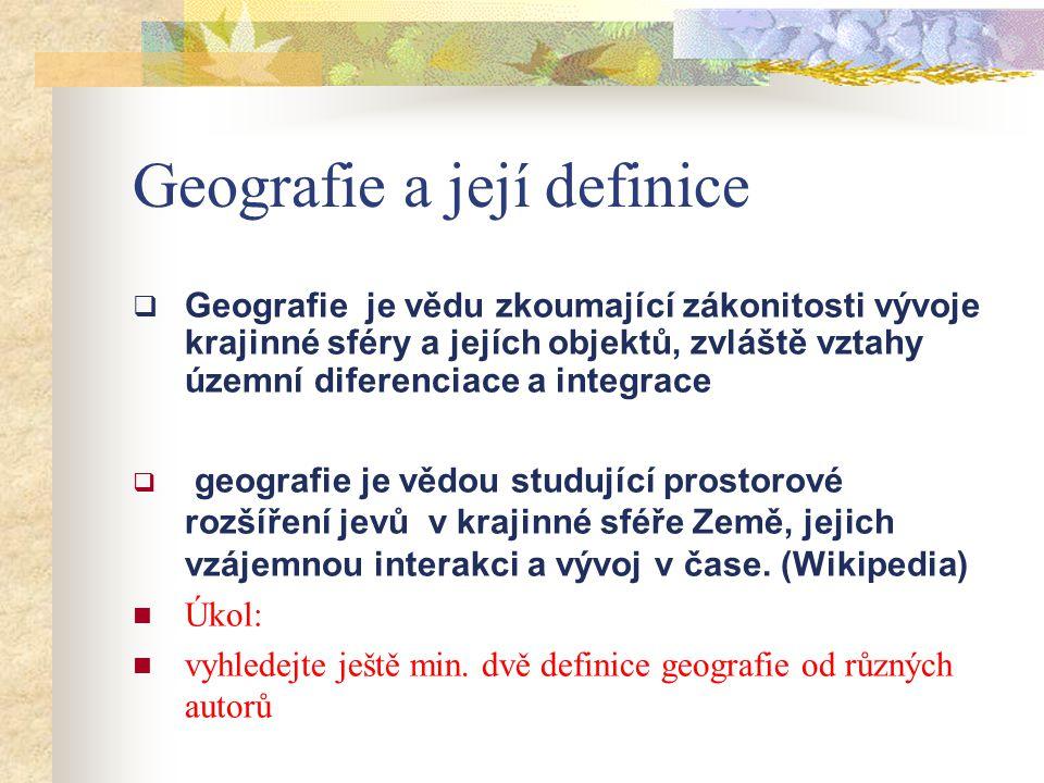 Geografie a její definice