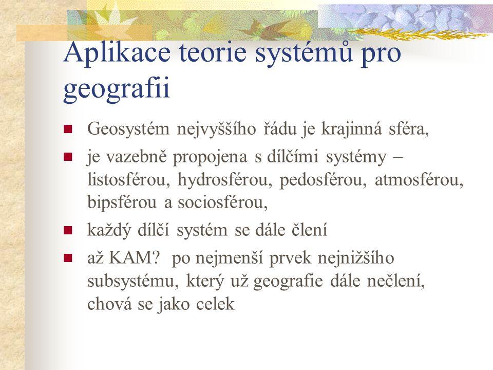 Aplikace teorie systémů pro geografii