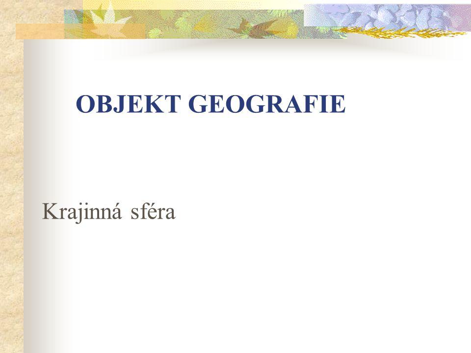 Objekt geografie Krajinná sféra