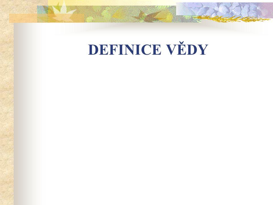 Definice vědy