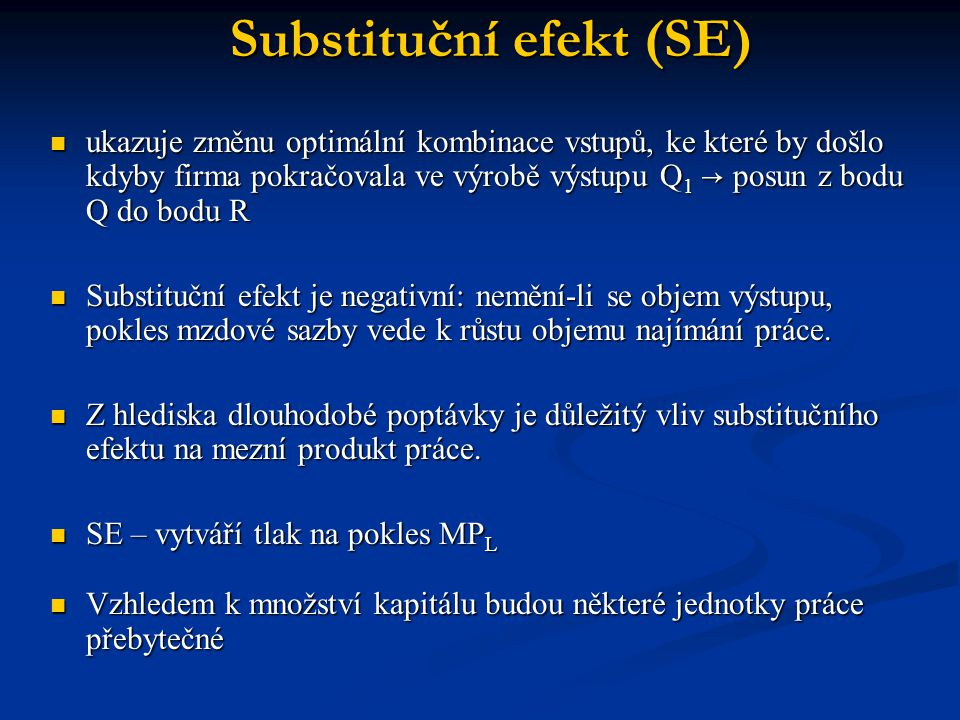 Substituční efekt (SE)