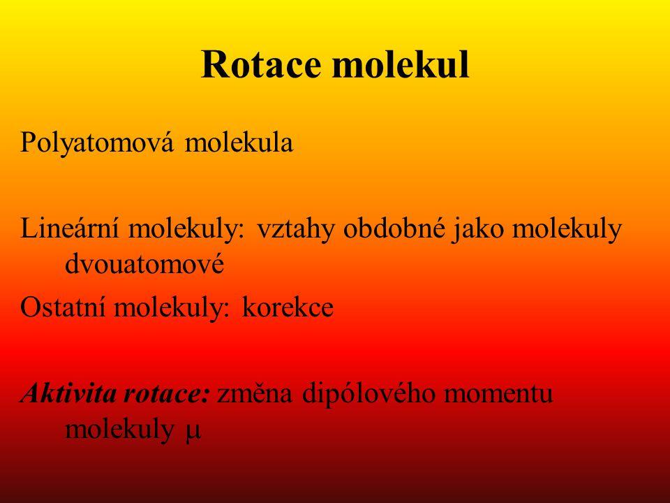 Rotace molekul Polyatomová molekula