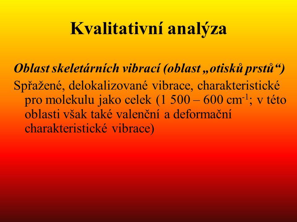 """Kvalitativní analýza Oblast skeletárních vibrací (oblast """"otisků prstů )"""