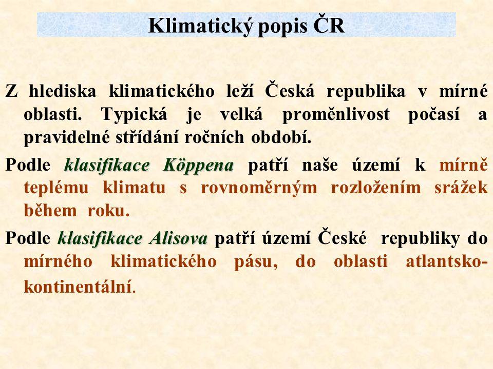 Klimatický popis ČR