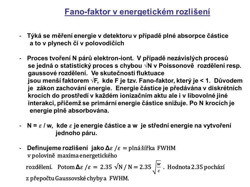Fano-faktor v energetickém rozlišení