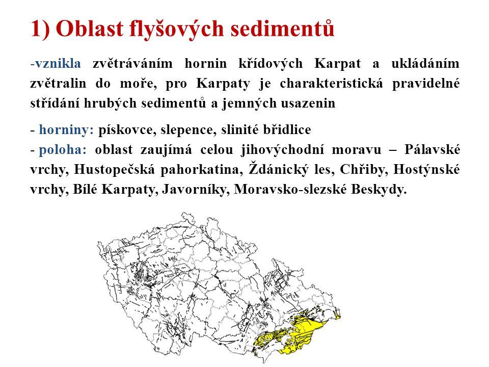 1) Oblast flyšových sedimentů