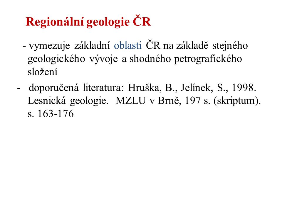 Regionální geologie ČR