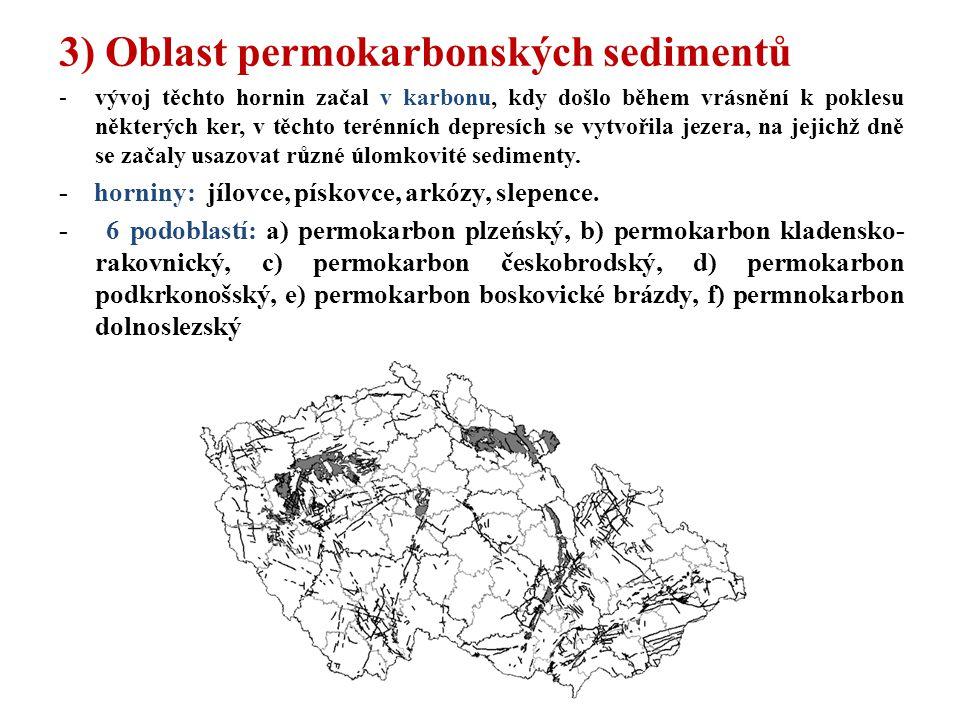 3) Oblast permokarbonských sedimentů