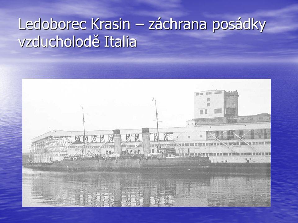 Ledoborec Krasin – záchrana posádky vzducholodě Italia